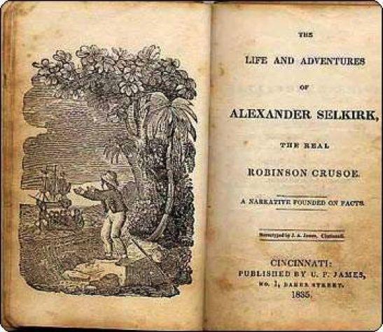 """""""Животът и приключенията на Александър Селкирк"""" (1835 г.), автор - неизвестен"""