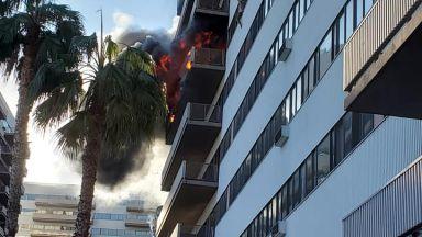 Огнен ад в блока на генералния консул на България в Лос Анджелис (снимки+видео)