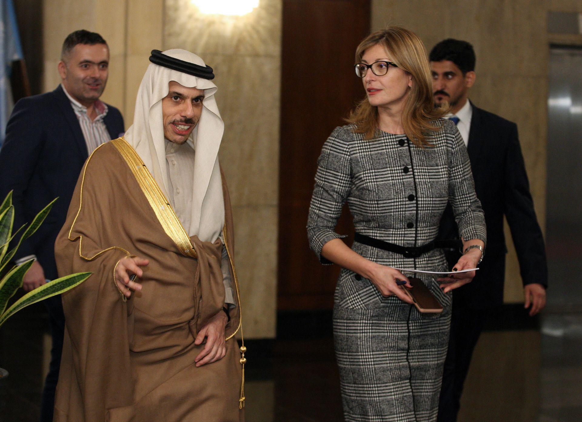 Захариева посреща принца в Министерския съвет