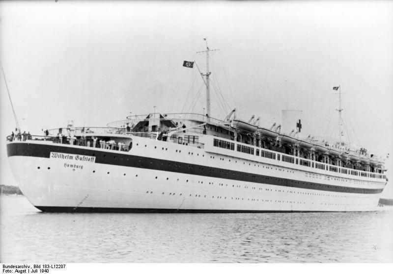 """Вилхелм Густлоф"" като болничен кораб"