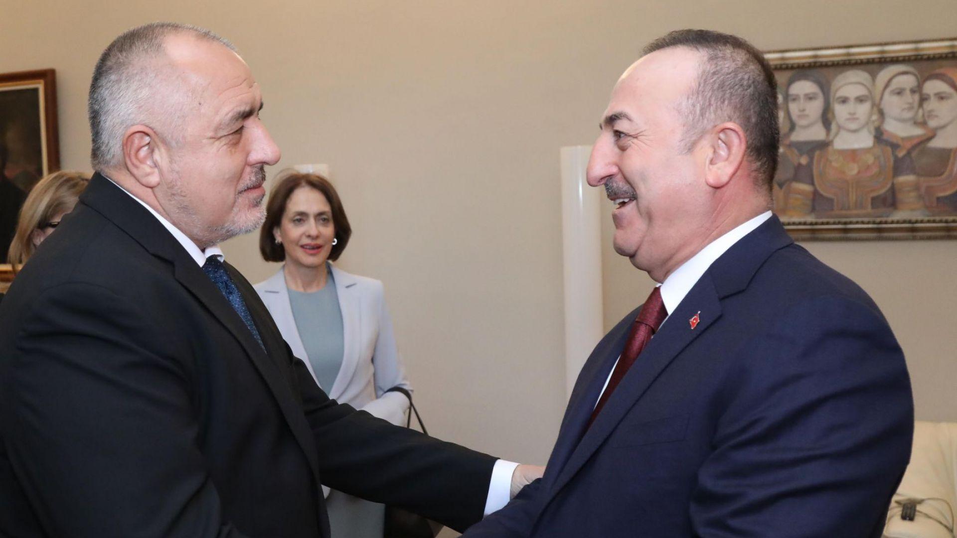 Борисов посрещна Чавушоглу и подчерта, че Турция е важен съюзник и партньор