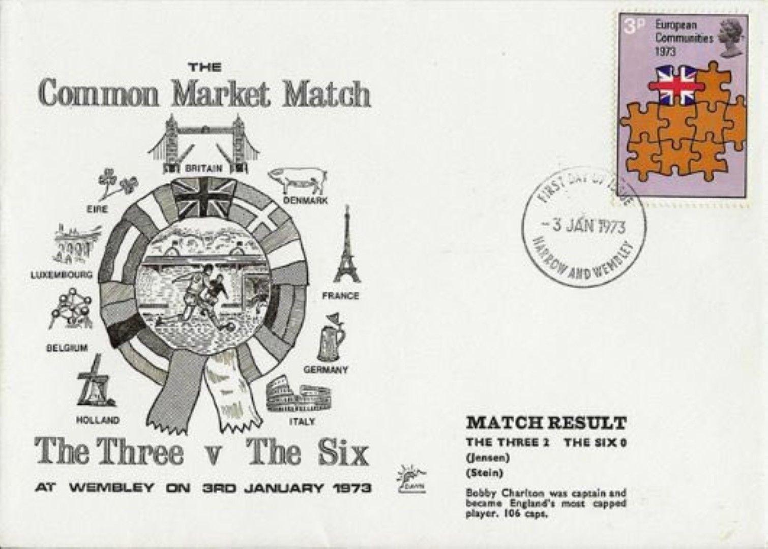 Пощенски плик с марката на мача