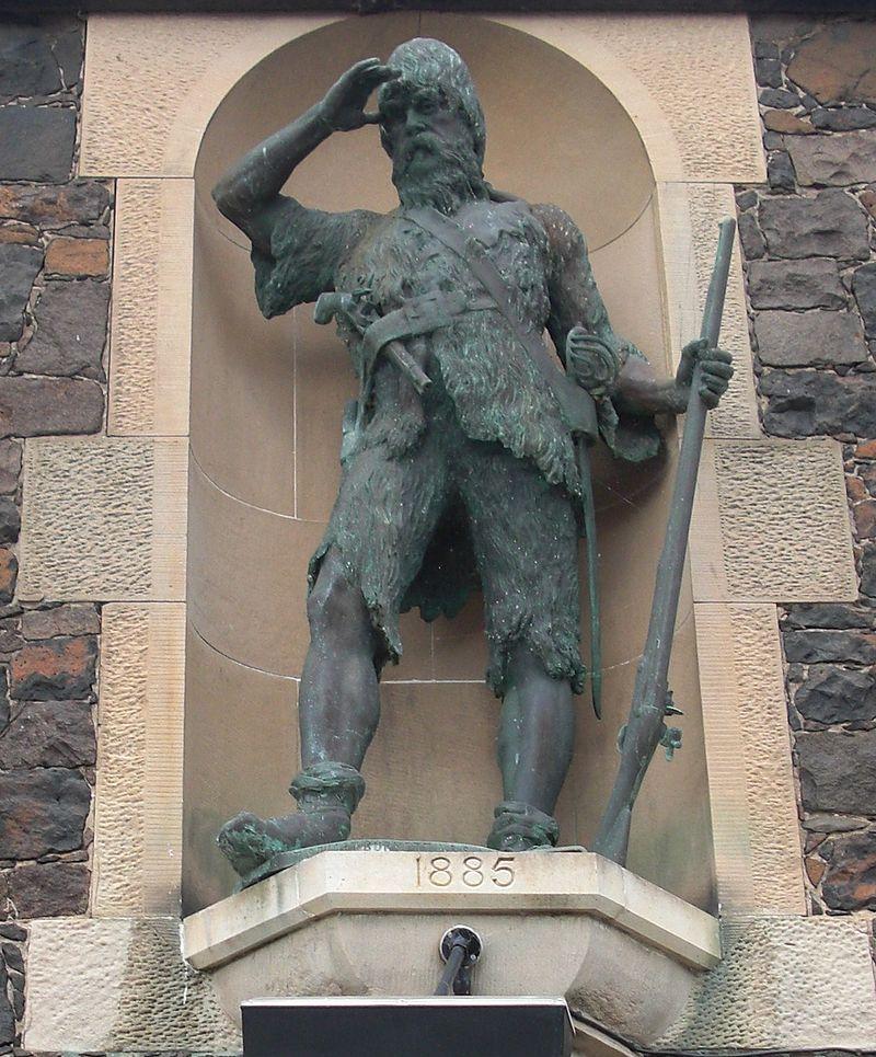 На мястото, където някога е била къщата на Селкирк, през 1885 г. е издигнат негов бронзов паметник