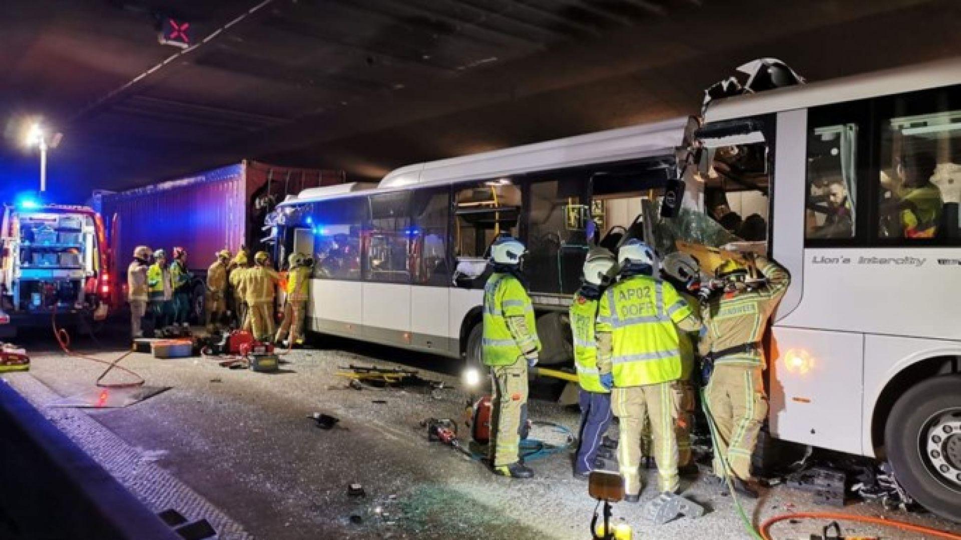 Загинал и 49 ранени при верижна катастрофа в тунел в Белгия (видео)