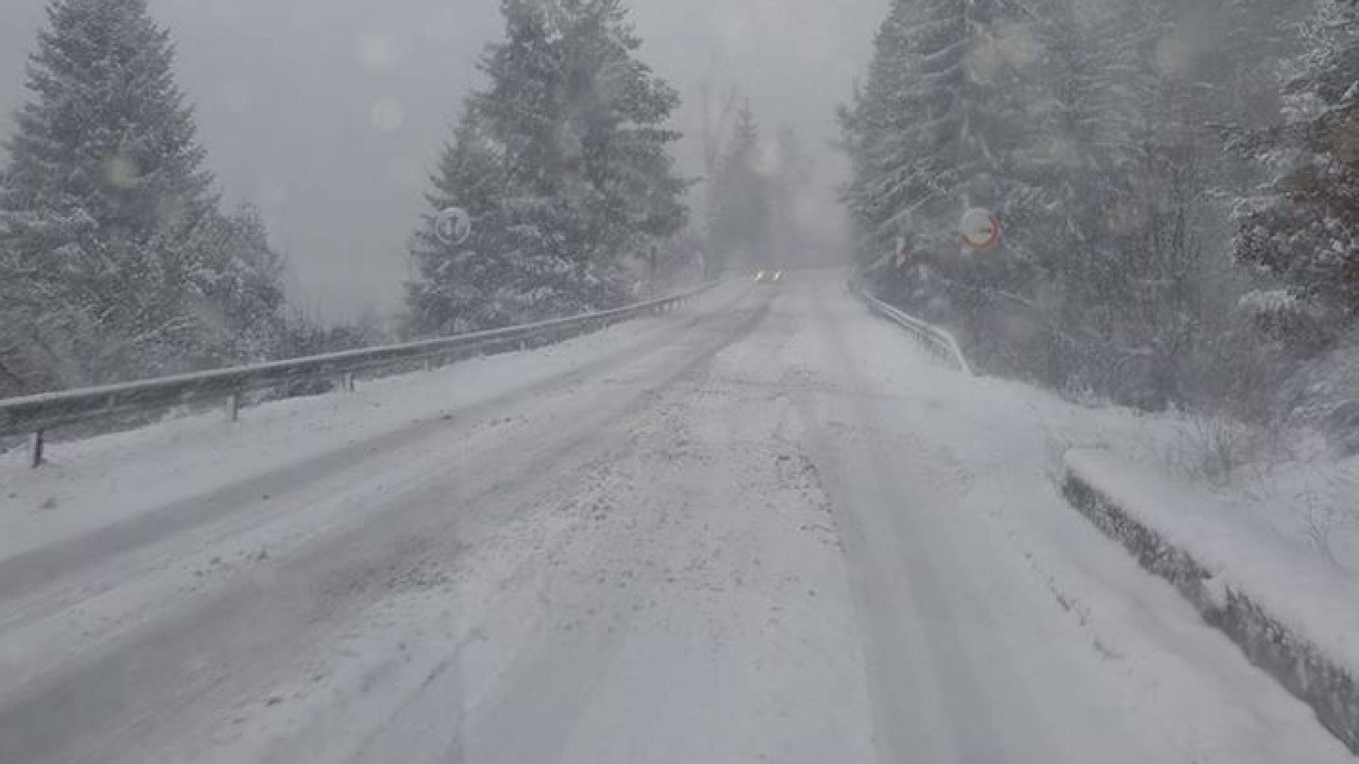 Затворени проходи и неизчистени пътища при обилния снеговалеж