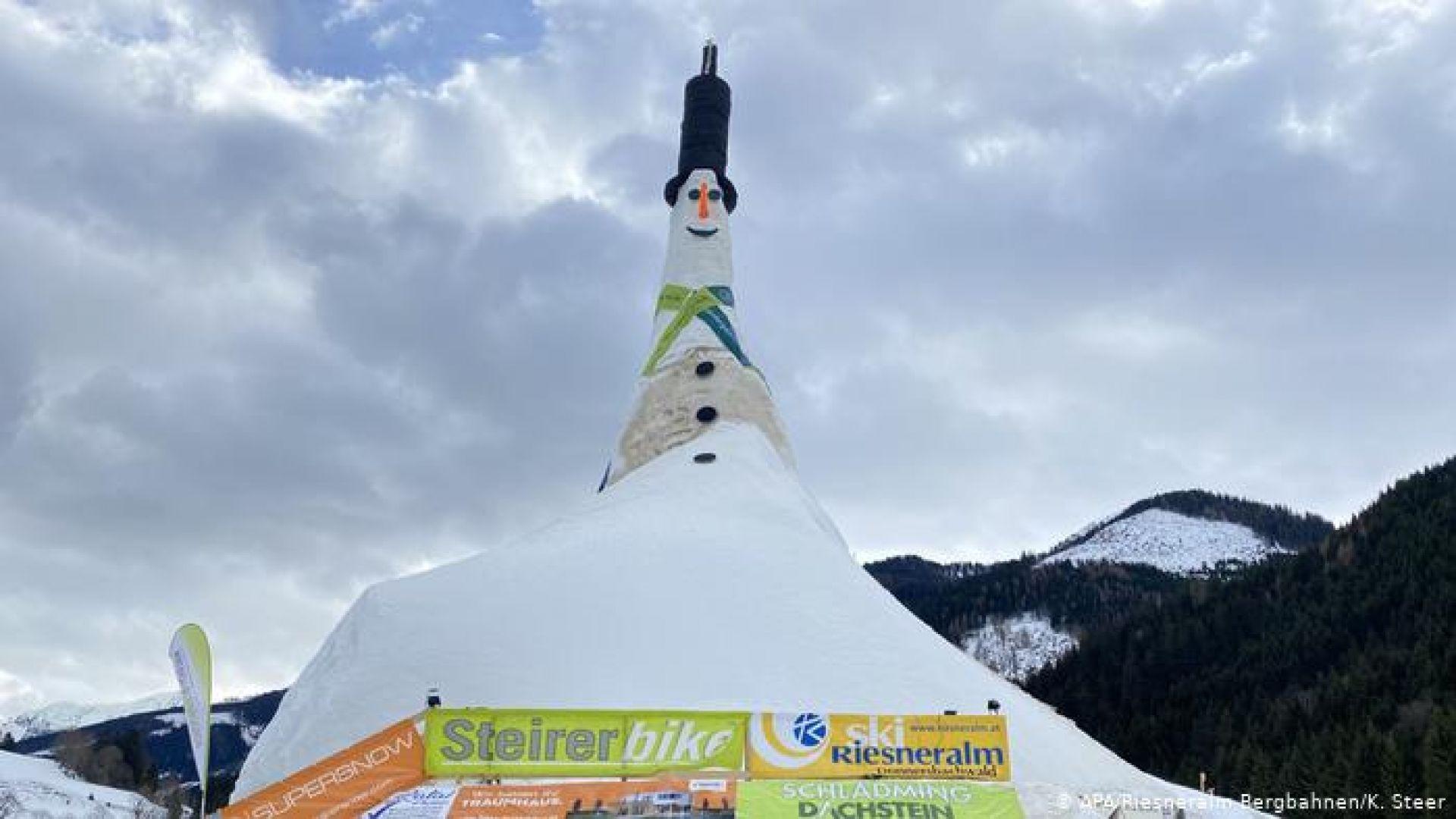 Снежният човек Ризи беше признат за най-голям в света