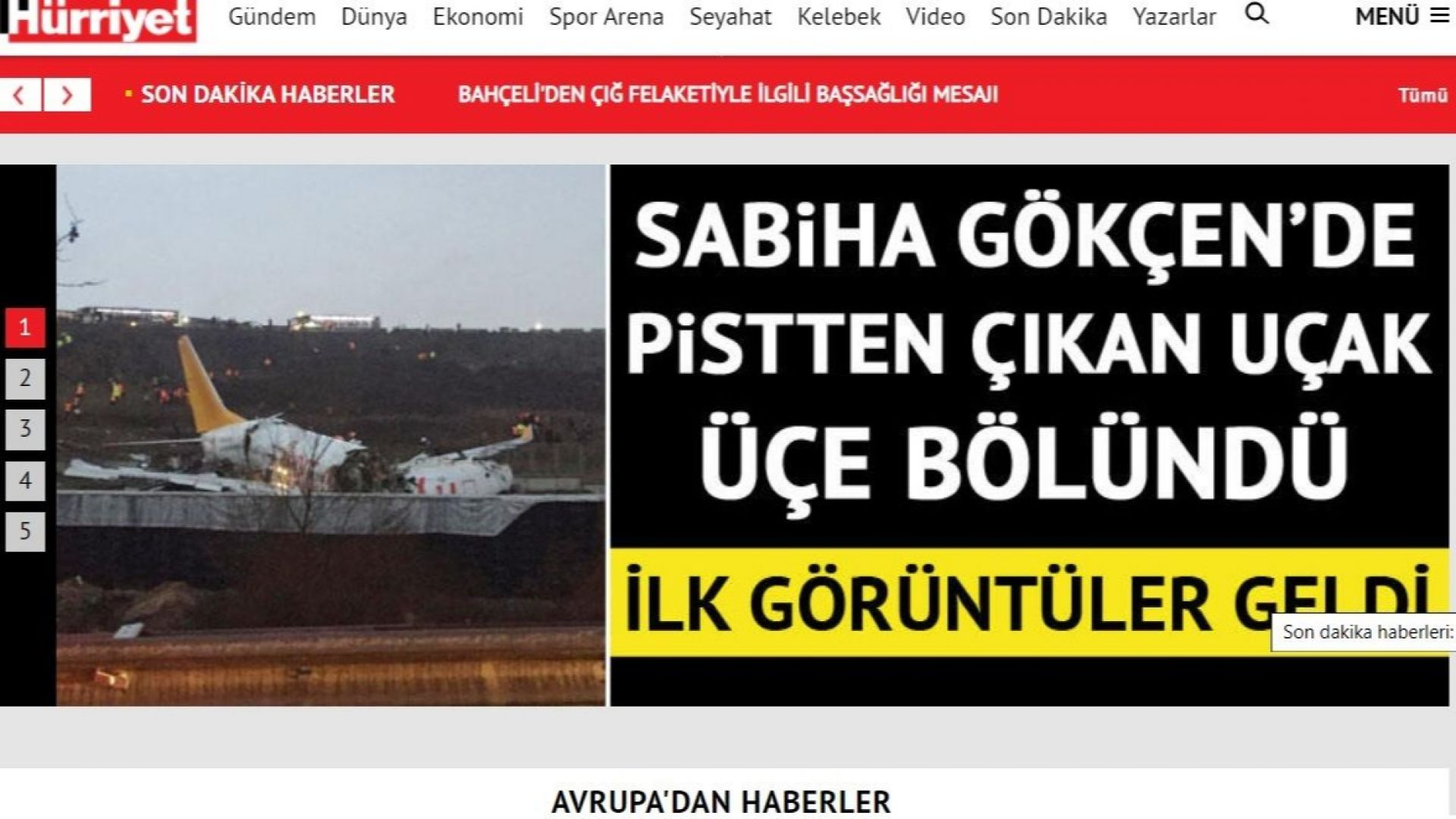 Самолет катастрофира на летище в Истанбул и се разпадна на