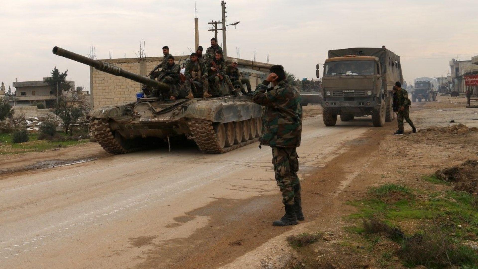 Сирийската армия завзе ключов град в Идлиб, но може да се изправи срещу турската