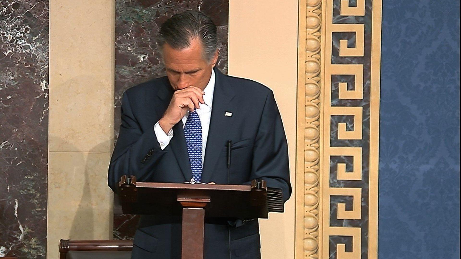 Сенаторът републиканец Мит Ромни обяви, че ще гласува против Тръмп