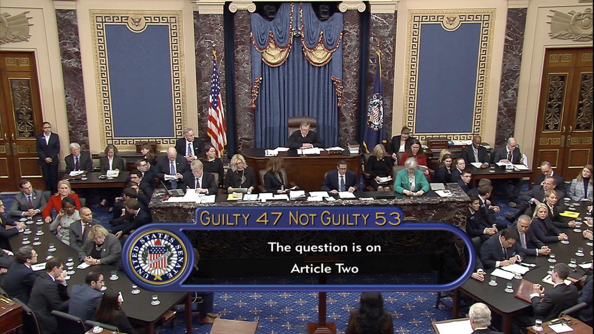 С 53 срещу 47 гласа бе отхвърлено второто обвинение - за възпрепятстване работата на Конгреса