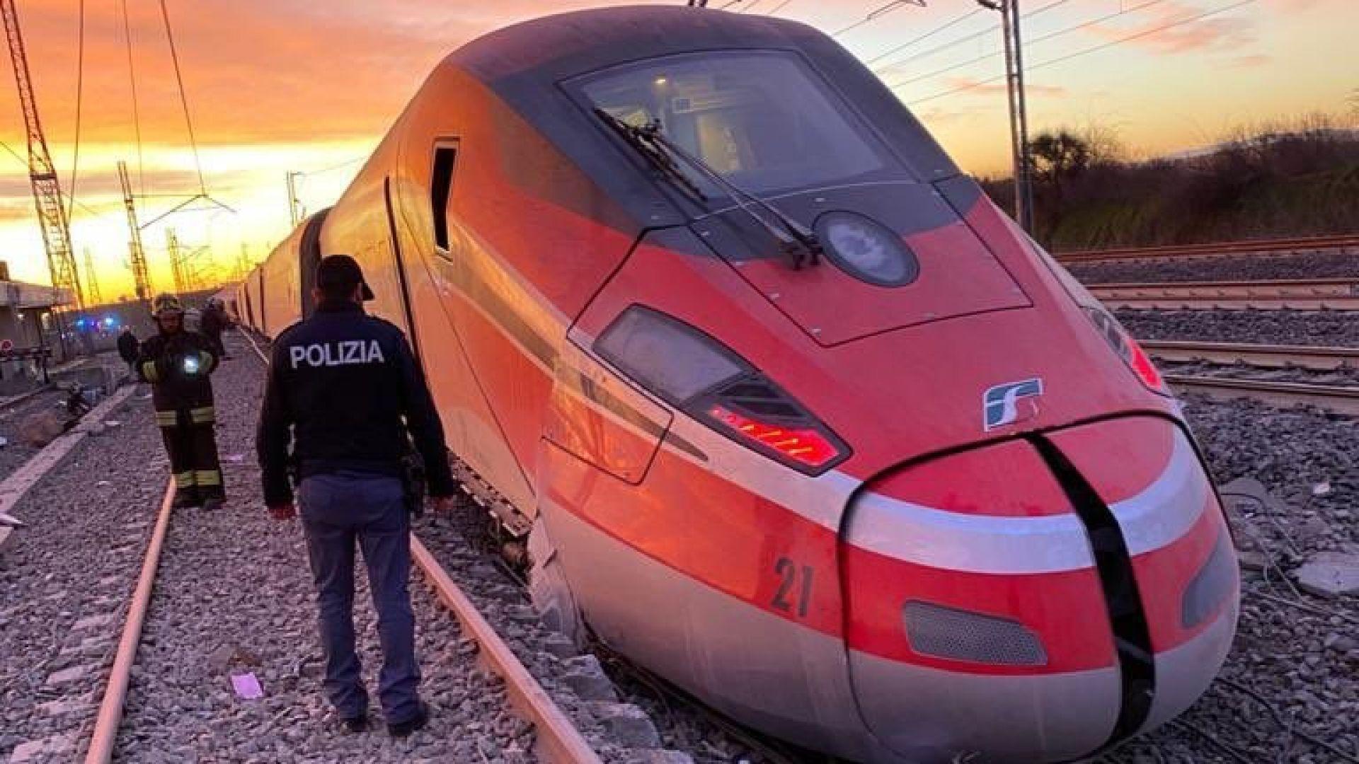Влак дерайлира край Милано, има жертви и ранени (СНИМКИ)