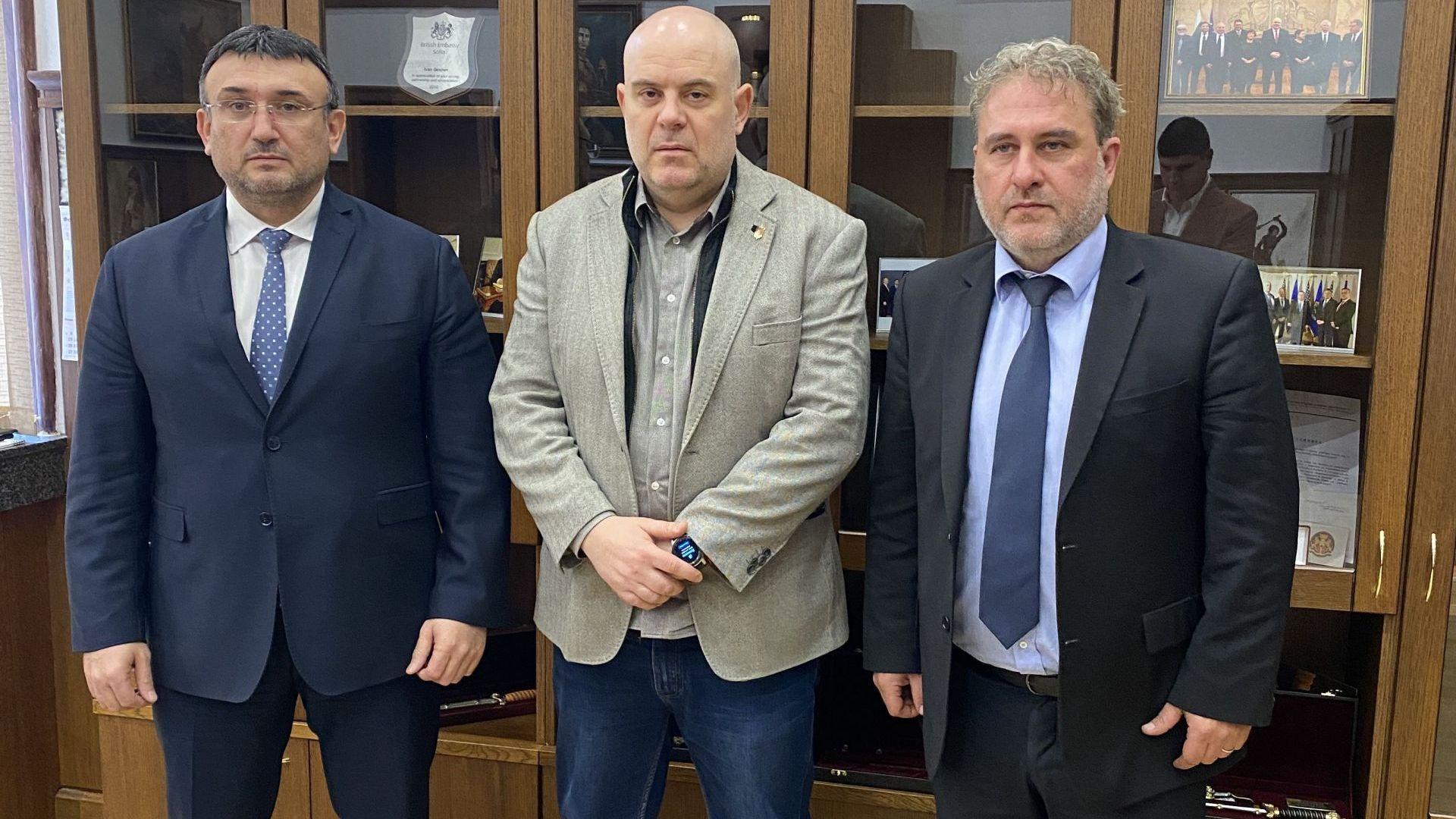 Главният прокурор на България Иван Гешев, министърът на вътрешните работи