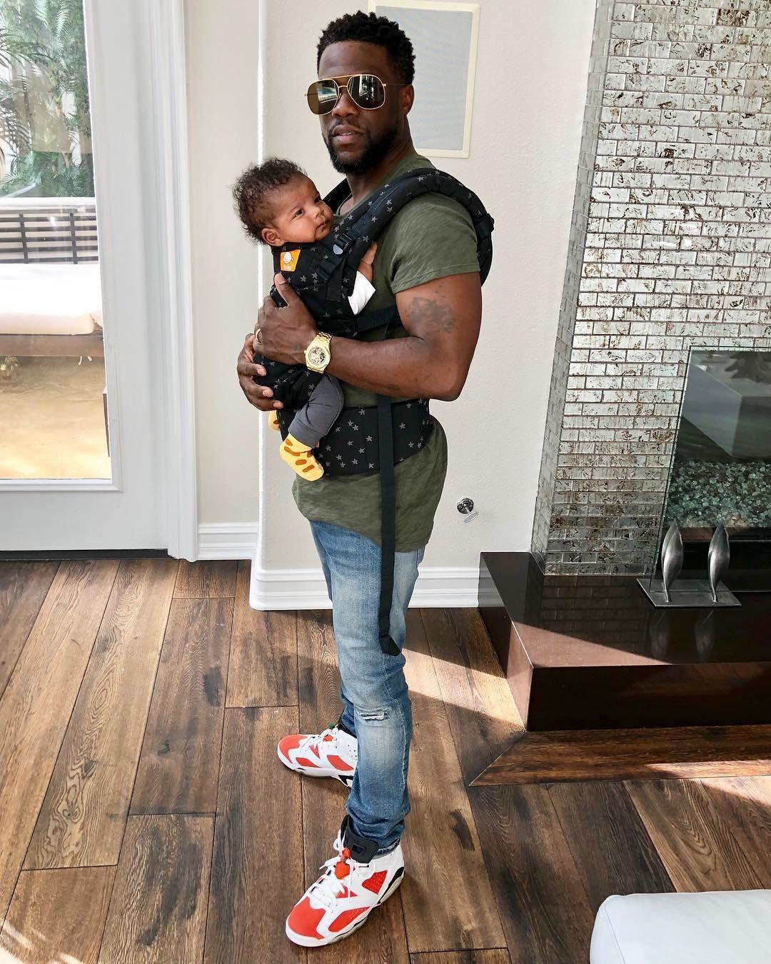 Кевин Харт със сина си