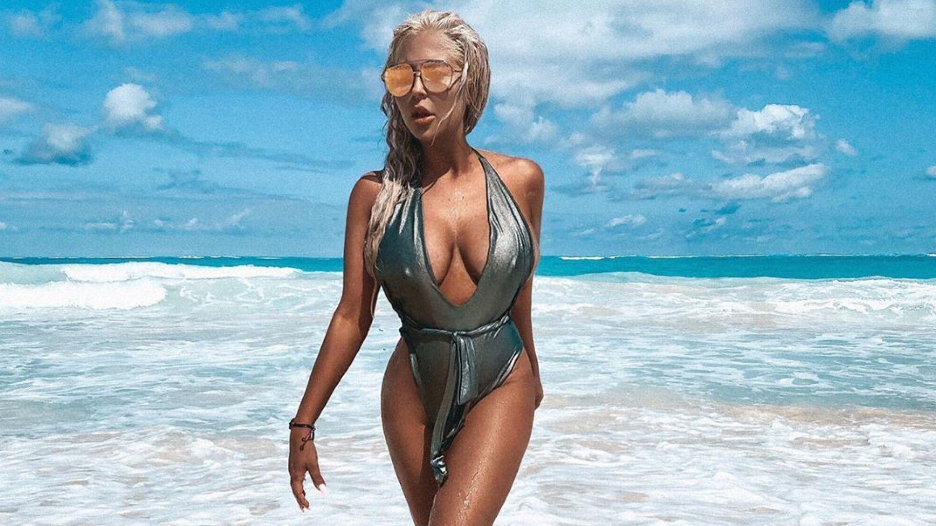 Андреа се наслаждава на високите градуси в Пунта Кана