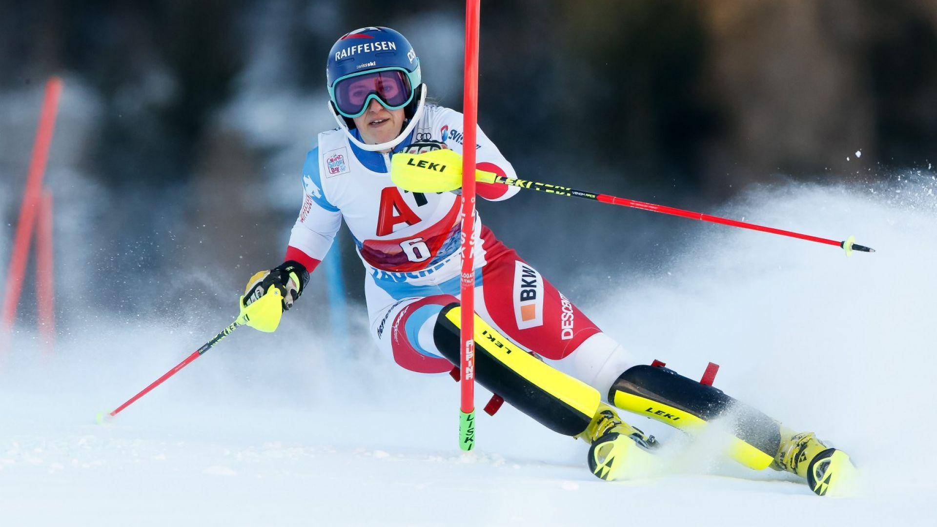 Швейцарка от алпийските ски се потроши в тежко падане