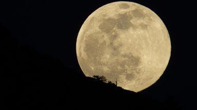 Наблюдаваме Суперлуна, известна още като Снежна луна  (снимки)