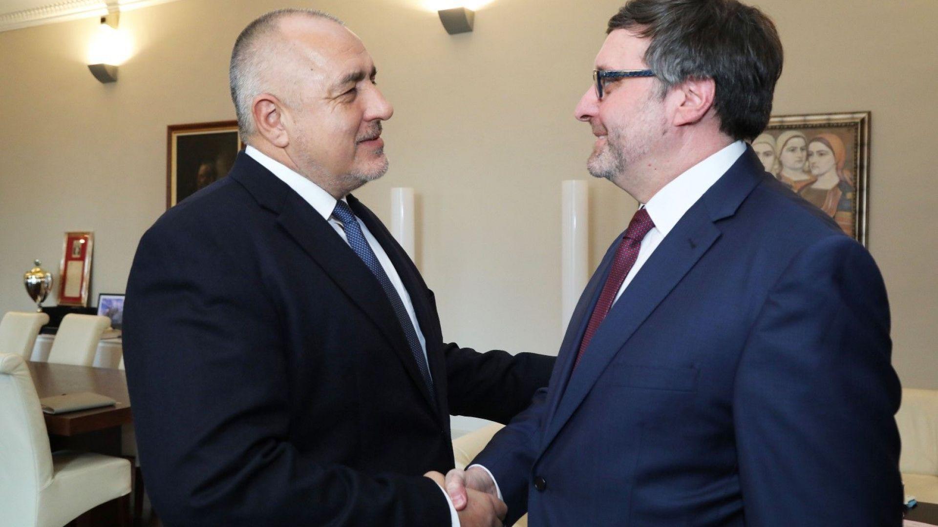 Борисов отбеляза пред Матю Палмър: Сигурността и отбраната са сред основните измерения на диалога