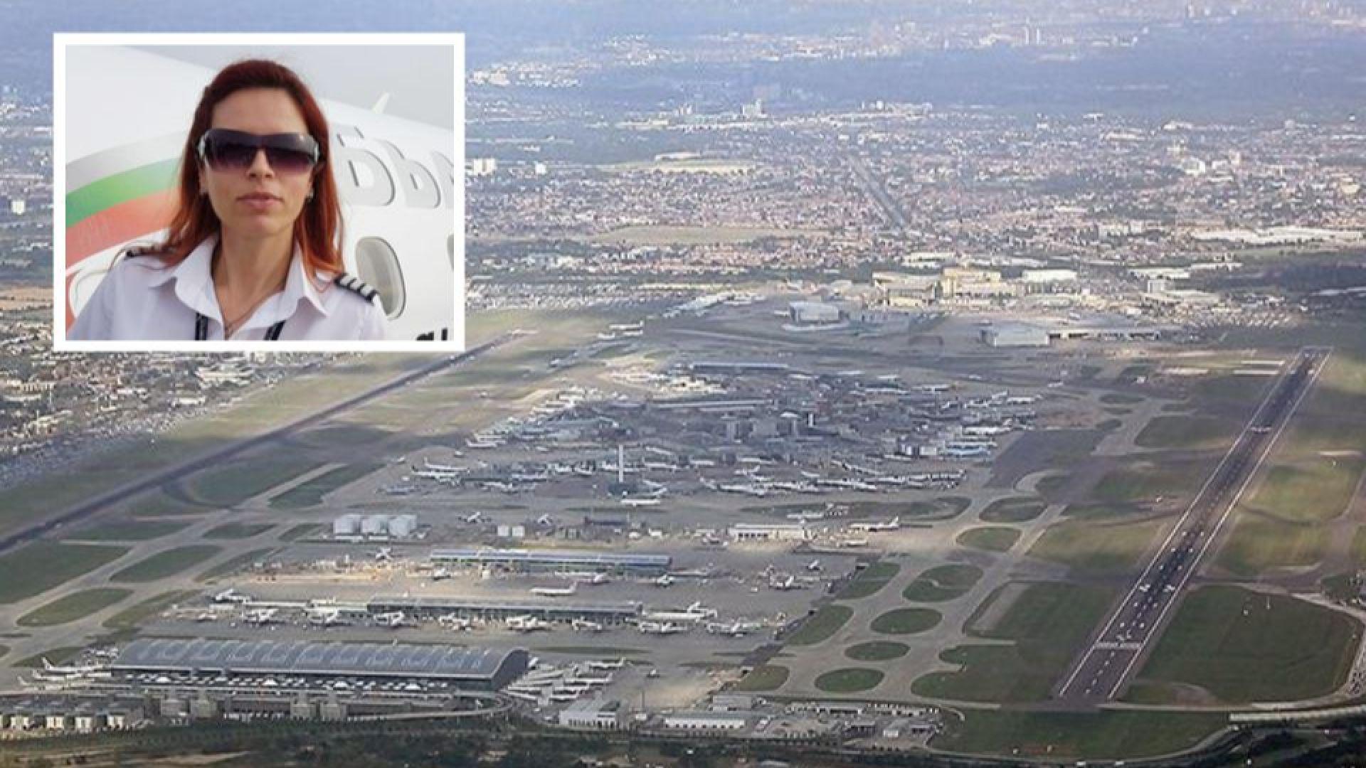 """Българка приземи успешно самолет на летище """"Хийтроу"""" по време на силната буря (видео)"""