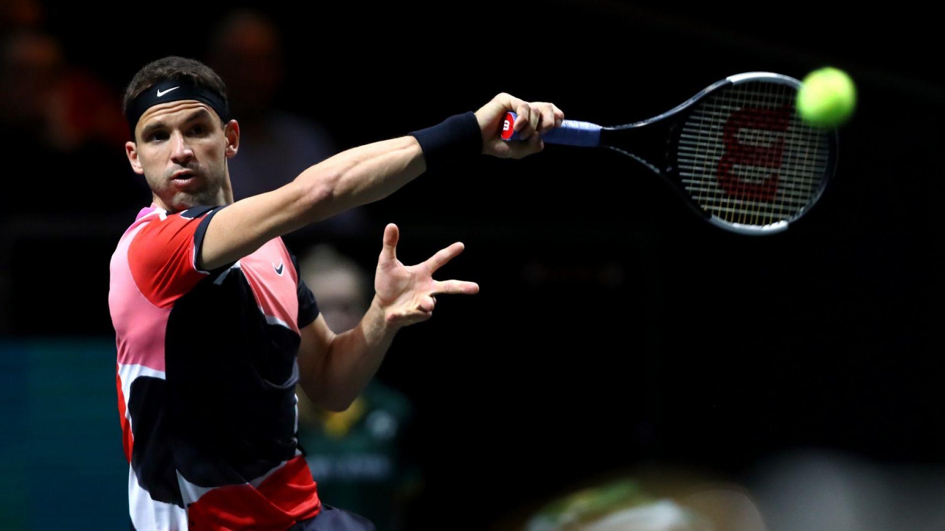 Григор Димитров се събуди с хубава победа над световния №16