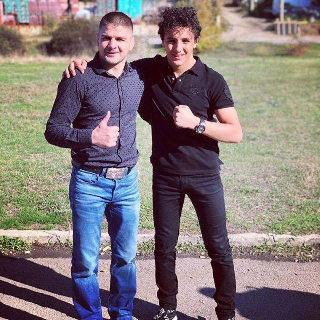 Еди с големия приятел и съотборник Иво Ангелов, световен шампион в борбата