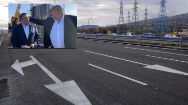 Борисов инспектира Околовръстното шосе на София и препита зам.-министър (видео)