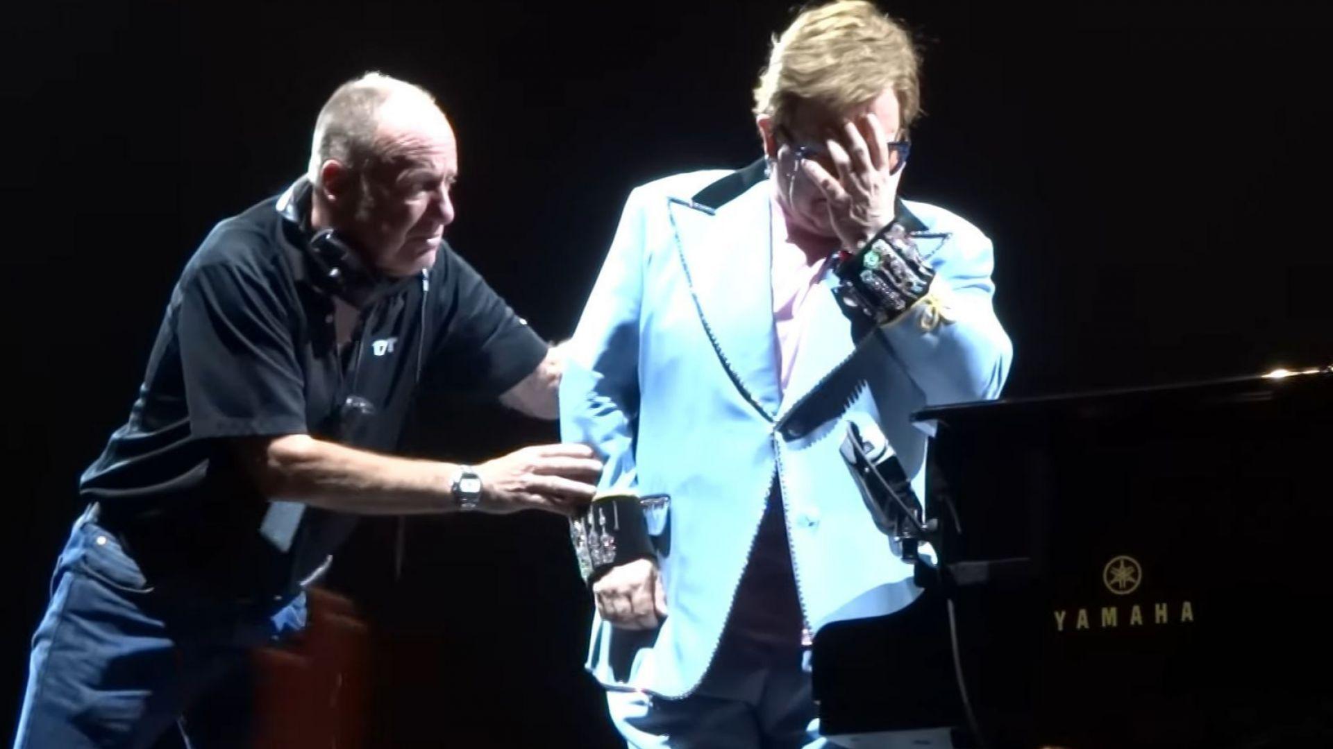 Елтън Джон изгуби глас, избухна в сълзи и прекрати концерта си (видео)