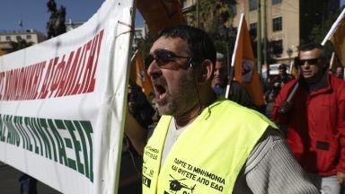 В Атина е истински транспортен хаос днес (снимки)