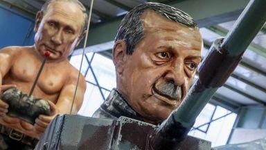 Фигури осмиват световни лидери на карнавала в Майнц (снимки)