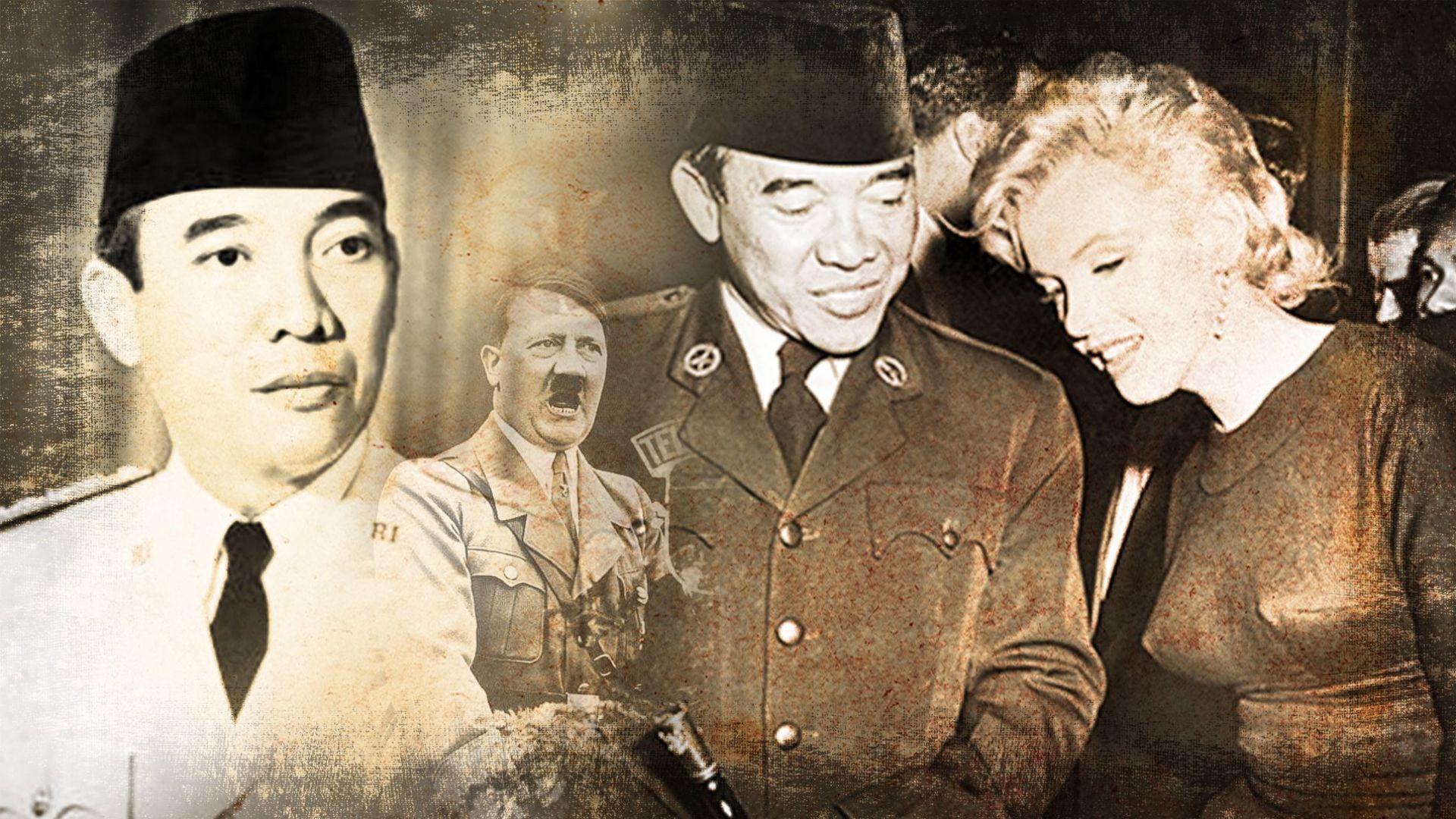 """Кралят на """"магията"""" Сукарно - боготвори Адолф Хитлер, """"гушкал"""" Мерилин Монро и разорил народа си"""