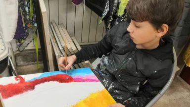 10-годишен пловдивски художник - с изложба от 15 вдъхновяващи творби