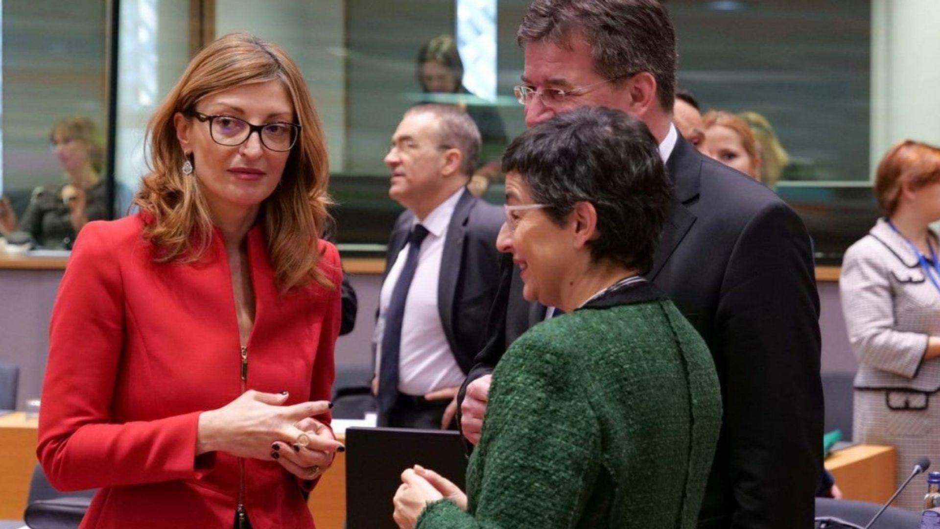 Екатерина Захариева призова колегите си от ЕС за единство, солидарност и координация