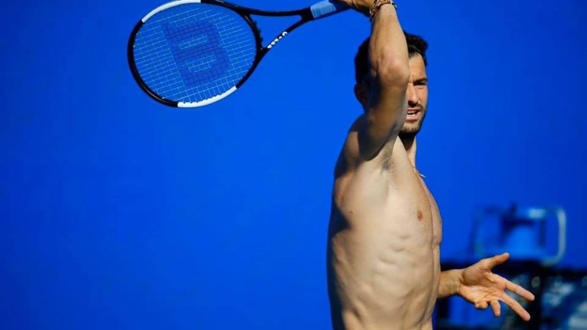 Григор тренира гол до кръста в Акапулко (снимки)