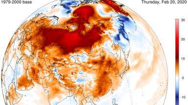 Червеното полукълбо - положителни температурни аномалии без аналог в историята
