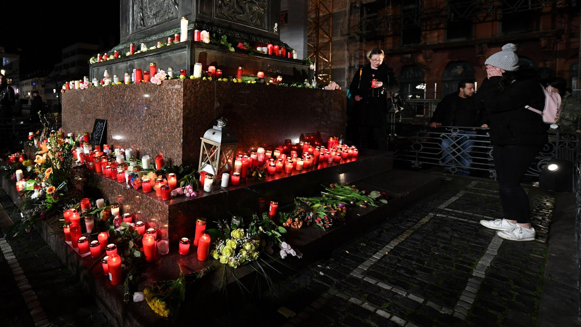 Хиляди хора в няколко германски града почетоха паметта на жертвите от стрелбата в Ханау