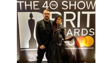 Влади Ампов-Графа - специален гост на наградите BRIT в Лондон