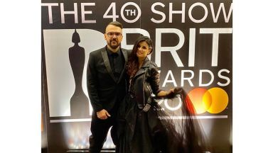 Влади Ампов-Графа бе специален гост на наградите BRIT в Лондон