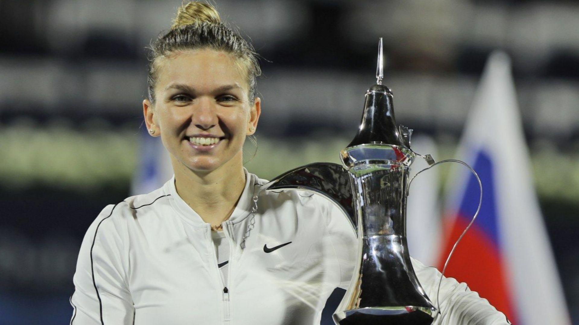 Симона Халеп вдигна трофея в Дубай