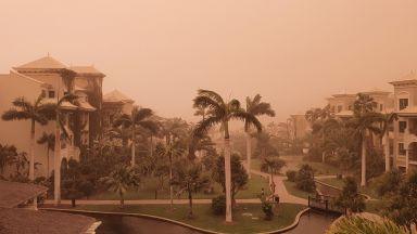Затвориха летищата на Канарските острови заради прах от Сахара