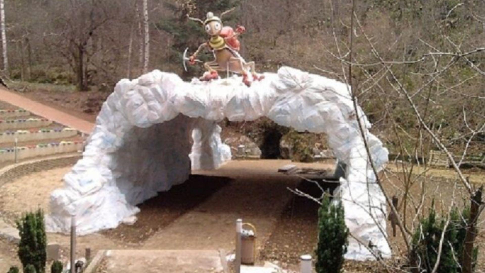 Входният модул към пещера Леденика се срути (снимки)