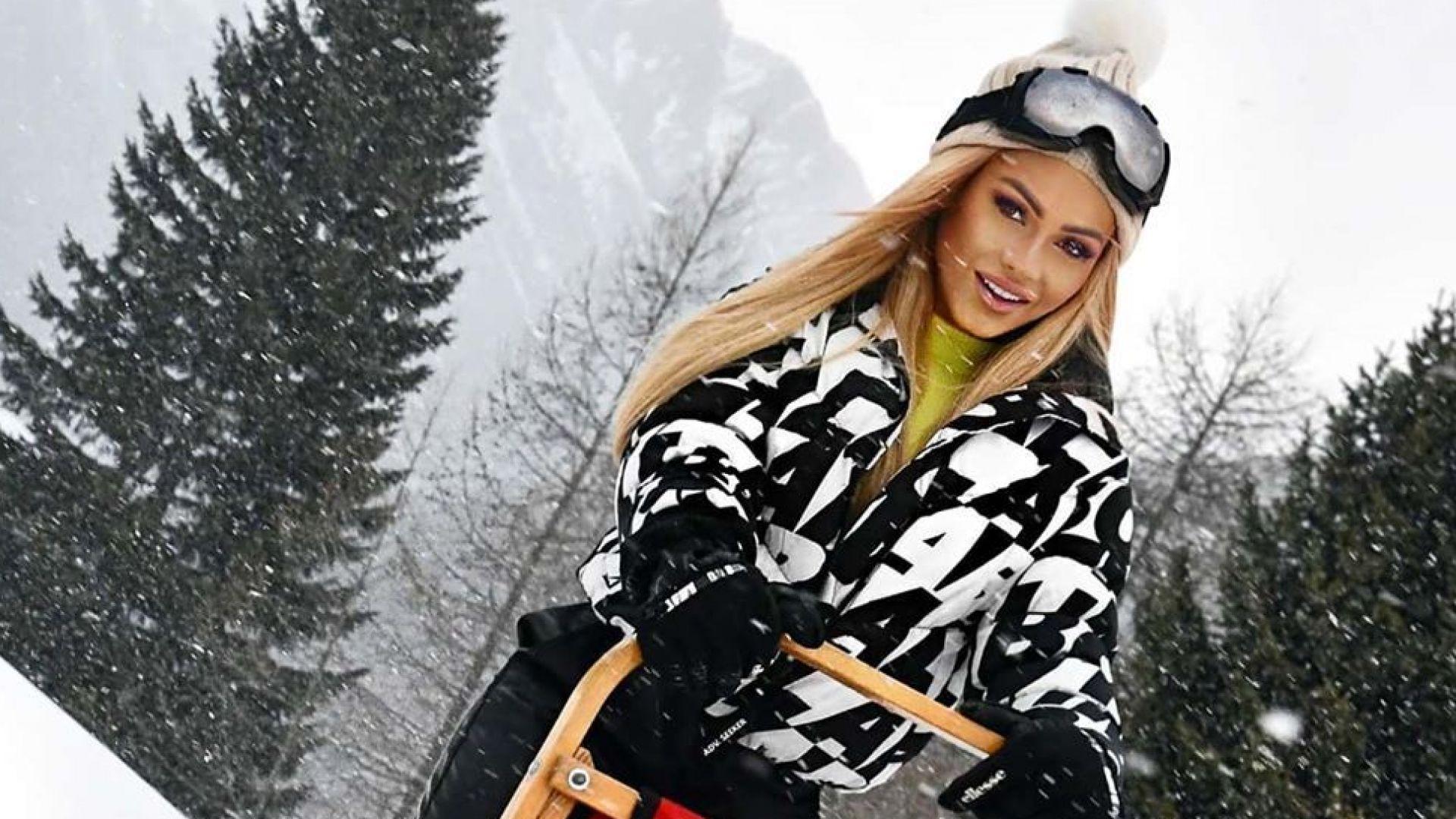 Нора Недкова със снежно приключение из Италианските Алпи