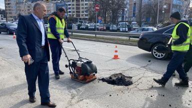 Започнаха ремонти на столичните булеварди