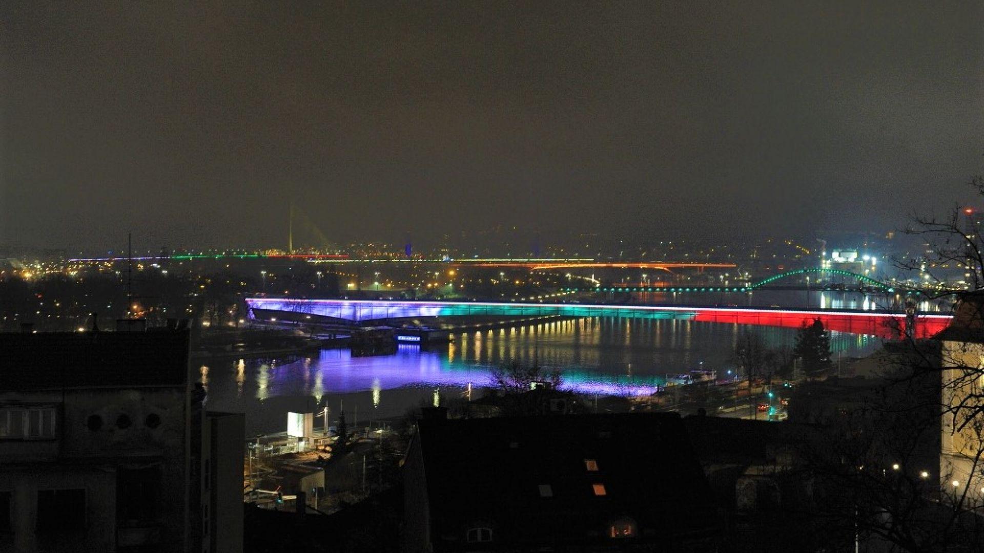 Символи на Белград грейнаха в цветовете на българския трибагреник (снимки)
