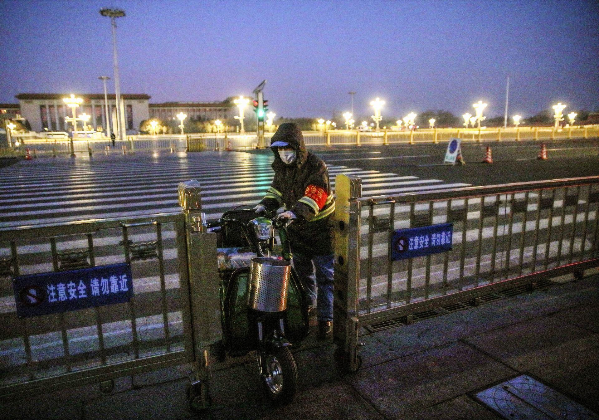 Санитарен работник в Пекин