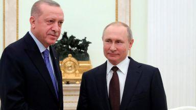 """Путин и Ердоган в телемост за началото на строежа на трети блок на АЕЦ """"Аккую"""""""