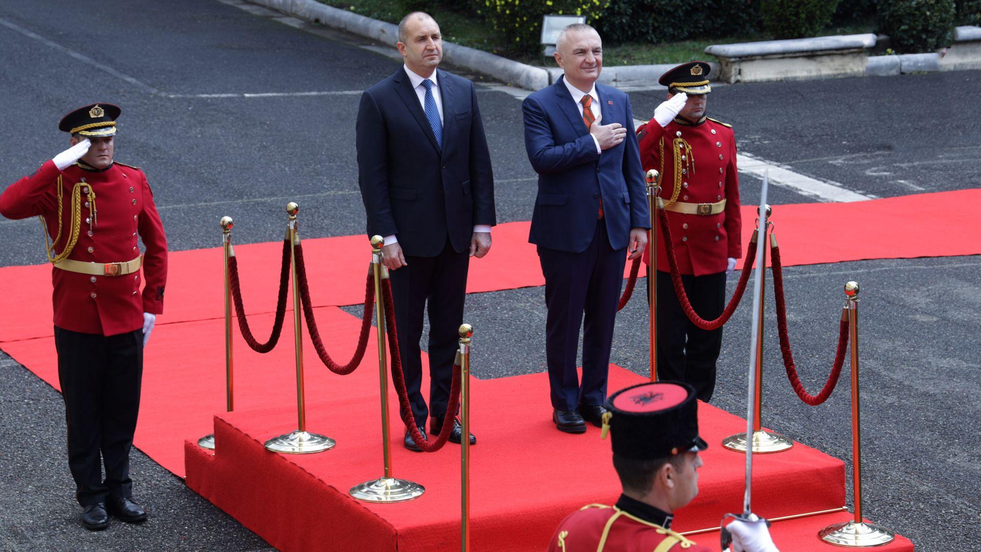 Румен Радев в Тирана: Реформи в полза на българското малцинство срещу подкрепа за влизане в ЕС