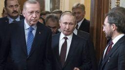 След 6-часови преговори Путин и Ердоган договориха примирие в Идлиб