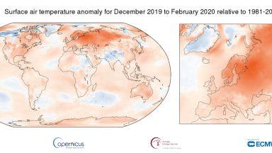 Миналата година е била рекордно топла в Европа