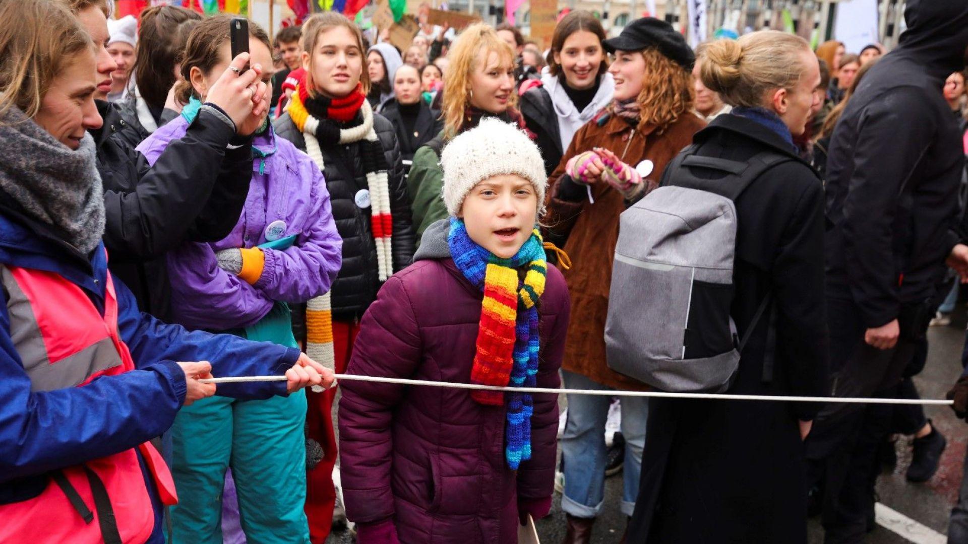 Няколко хиляди души се събраха този следобед в Брюксел на