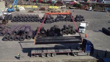 Борисов: Над 300 км тръби за Балкански поток вече са в България (видео)