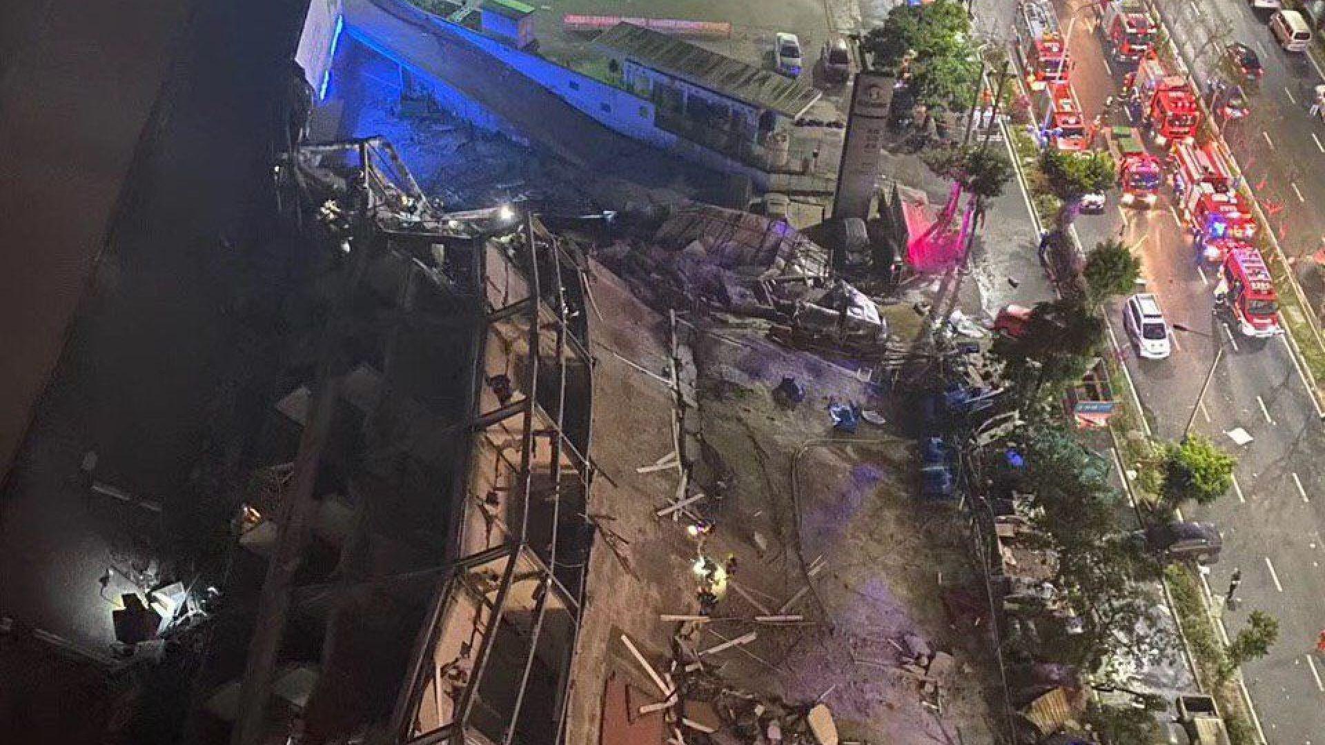Хотел с десетки под карантина рухна в Китай (видео)